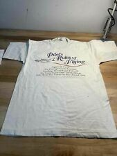 Men's Vintage Pilots Rules of Flying White Shirt Size M, Made in Usa