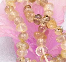 "New 8x10mm Irregular Brazil natural Rutilated loose beads ""AAA"