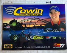 Andrew Cowin Signed NHRA Photo Family Drag Racing NY Yankees 8.5 X 12 N 649