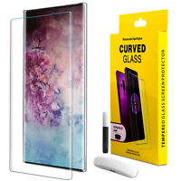 For Samsung Galaxy Note 10/S10+ Plus Fingerprint Tempered Glass Screen Protector