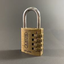 ABUS SOLID BRASS 165 / 40 COMBINATION PADLOCK *WORKING* GERMANY?