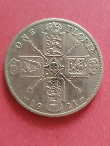 UK 1921 Florin (500 Silver)