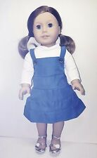 My American Girl Doll Clothes Cheap 4 Piece Blue Jumper w/Sandals VIBRANT All