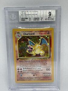 2000 Pokémon 1st Edition Charizard Holo Italian 4/102 BGS 9 MINT Pop 22