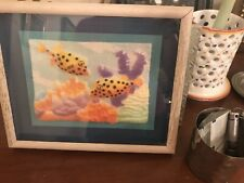 2 Figi Graphics Paper 3-D Prints Colorfully Painted Fish Signed by Marino