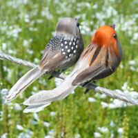 12Pcs Fake Artificial Bird's Sparrow Realistic Imitation Home Garden Decor