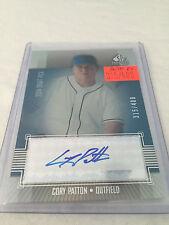 2004 Upper Deck SP Prospects Cory Patton Toronto Blue Jays autograph #d