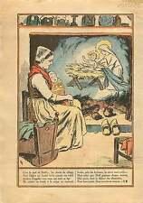 France Noël Jesus Autel Eglise Cloche Maison Village Berceaux  1932 ILLUSTRATION