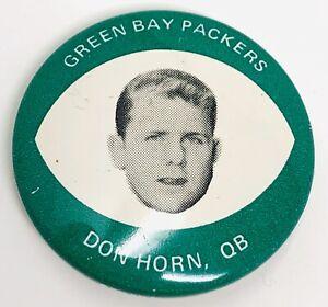 1969 Drenk's Potato Chips Green Bay Packers Don Horn Button EXCELLENT RF21