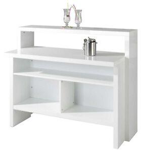 Hausbar Minibar Cocktailbar Empfangstheke Stehtisch Kellerbar Bar Weiß Hochglanz