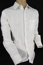 Hugo Boss M1 White Button Down Dress Shirt Long Sleeves Classy Size L 16 34-35