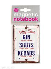 Brainbox Candy Gin Not Gym funny notebook / pad cheap birthday present gift joke