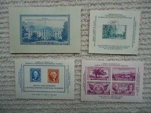 1936-47 USA souvenir sheets: Philatelic Truck; Philatelic Exhibitions Convention