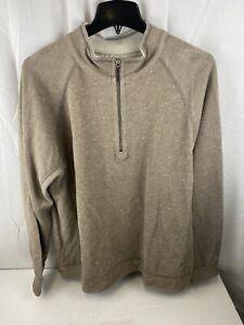 Tommy Bahama Flipshot Reversible 1/4 Zip Pullover, Tan, size XL