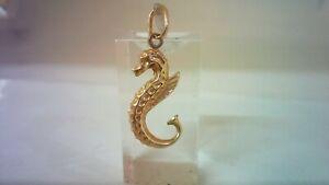 9 CT Gold Sea Horse Charm.