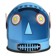 Blue Robot Helmet Android Astronaut Space Visor Costume Space Alien NASA Future