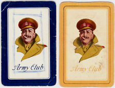 Swap playing cards     x  1 pair Army Club Soldiers