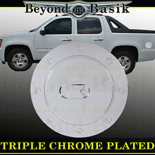 07-14 CHEVROLET AVALANCHE Triple ABS Chrome Fuel Gas Door Cover Cap Overlay Trim