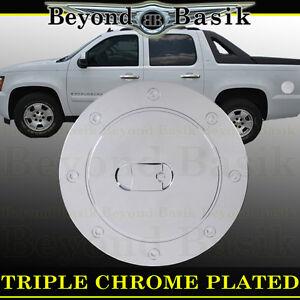 2007-14 CADILLAC ESCALADE Triple ABS Chrome Fuel Gas Door Cover Cap Overlay Trim