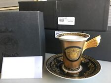 GORGEOUS Authentic VERSACE ROSENTHAL MEDUSA GOLD TEA COFFEE CUP SAUCER SET    AG