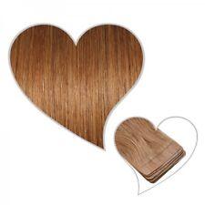 10 cintas extensiones marrón cobre #31 35 cm Pelo auténtico Skin Weft adhesiva