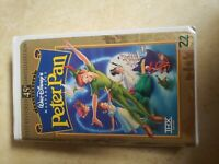 Peter Pan VHS, 1998, 45th Anniversary Limited Edition Walt Disney Masterpiece