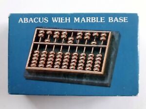 Brass Chinese Abacus with marble base