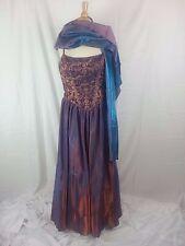 Tiffany Designs Orange Purple Women's Formal Wedding Pageant Gown Dress sz 18