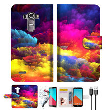 Colorful Cloud Wallet TPU Case Cover For LG G4-- A021