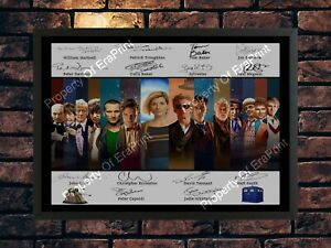 DOCTOR WHO 1963 - 2020 SIGNED - ALL 14 DOCTORS -  AUTOGRAPH A4 PHOTO PRINT