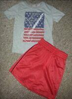KOALA KIDS Gray America Rocks Top Red JUMPING BEANS Athletic Shorts Boys 4T
