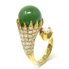 NYJEWEL 18k Yellow Gold 2ct Diamond Jade Ring