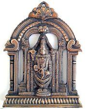 VINTAGE HINDU GOD STATUE WALL HANGING GANESH RARE COLLECTIBLE BRASS FINISH METAL