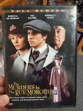 The Murders In the Rue Morgue DVD Rare VAL KILMER Rebecca De Mornay
