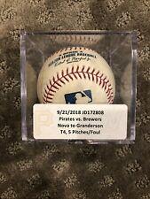 Pittsburgh Pirates Ivan Nova Game Used Baseball 9/12/18 Curtis Granderson