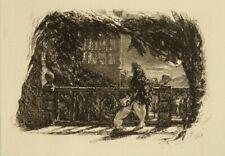 Original etching Cranbrook artist John Callcott Horsley, circa 1840