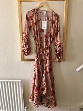 Johanna Ortiz for H&M Long Sleeved Ruffle Wrap Midi Dress Size S BNWT