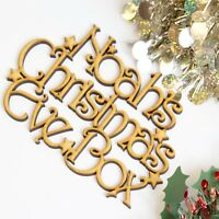 Wooden Christmas Eve Box Toppers Personalised MDF Craft Plaque Xmas Decor F5mini