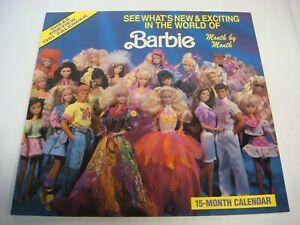 Mattel Barbie vintage 1991 15-month calendar