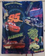 Disney Pixar Cars Lightening McQueen Fleece Throw Sleeping Bag Blanket Springs