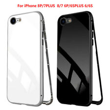 Premium Magnetic Adsorption Metal Bumper Case for iPhone 6 7 8 Plus Dirtproof