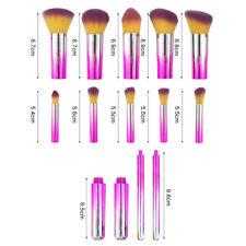 10Pcs Soft Power Makeup Brushes Cosmetic Eyeshadow Face Lip Pencil Brush Tools