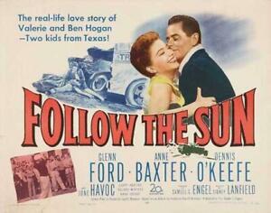 Follow the Sun Movie POSTER 22 x 28 Glenn Ford, Anne Baxter, Dennis O'Keefe, A