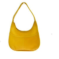 Auth Coach 9953 Leather Shoulder Bag Yellow 08GA224