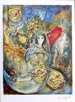 Marc Chagall BELLA Facsimile Signed Numbered Litho Print & COA
