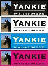 Personalised Horse stable door name plate plaque sign photo applied hd printed