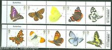 Great Britain 2013 Butterfllies Set Of Ten Mint Nh