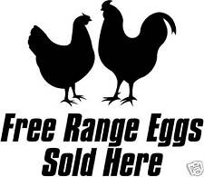 Free Range Eggs Sold Here Chickens Sticker/Sign