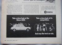 1970 Simca 1100 Original advert No.2