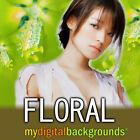 FLORAL Digital Backgrounds Studio Photography Backdrops Muslin Chromakey